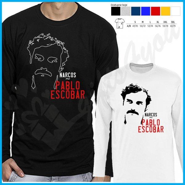 muske-majice-dug-rukav-Narcos Pablo Escobar majca dug rukav_3