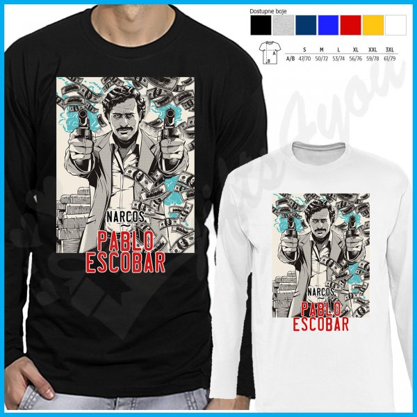 muske-majice-dug-rukav-Narcos Pablo Escobar majca dug rukav_4