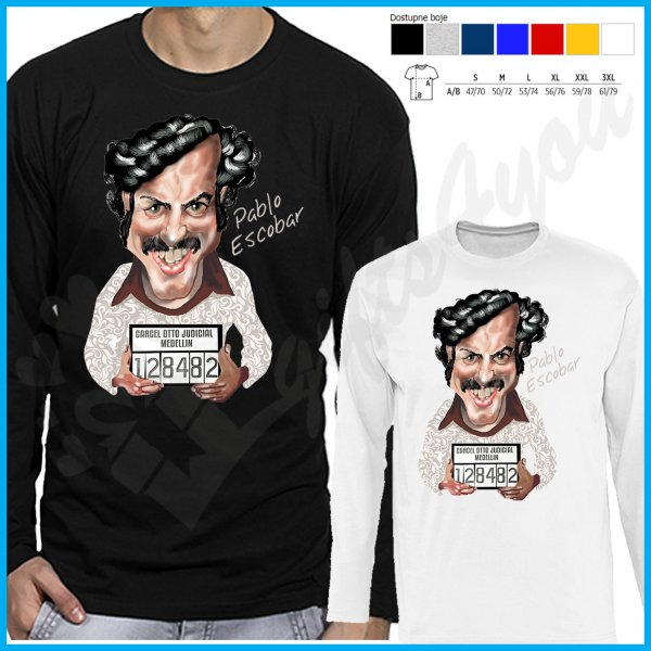 muske-majice-dug-rukav-Pablo Escobar 128482 majica dug rukav_6