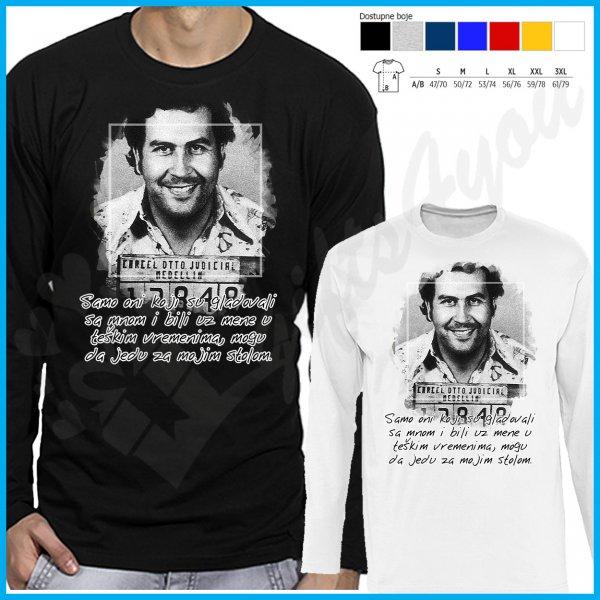 muske-majice-dug-rukav-Pablo Escobar majca dug rukav_1