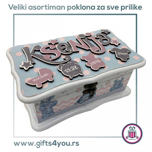 decije-drvene-kutije-Dečija drvena kutija -  Teddy bear_1