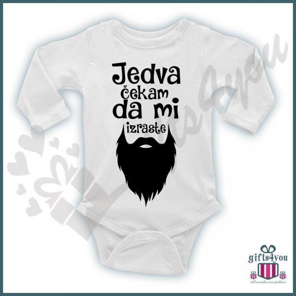 bodici-za-bebe-Jedva čekam da mi izraste brada bodić_99