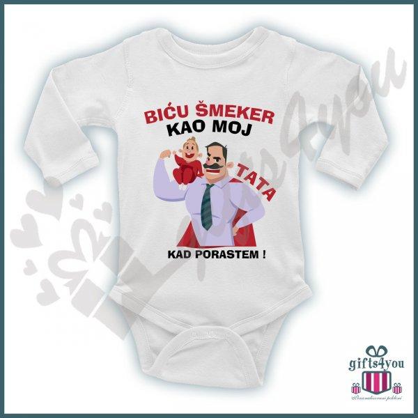 bodici-za-bebe-Biću šmeker kao moj tata bodić_143
