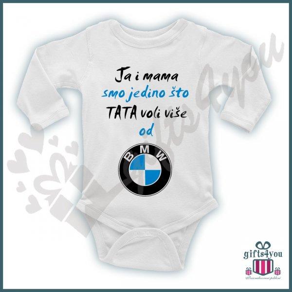 Ja i mama smo jedino što tata voli više od BMW bodić