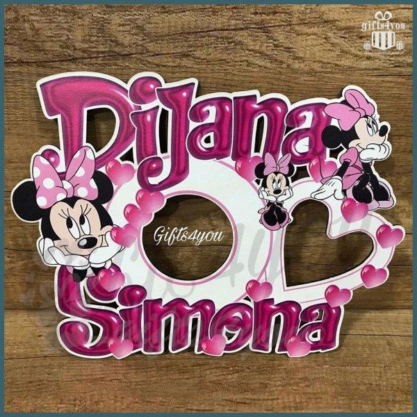 deciji-ramovi-Ram za 2 imena Minnie Mouse roze_38