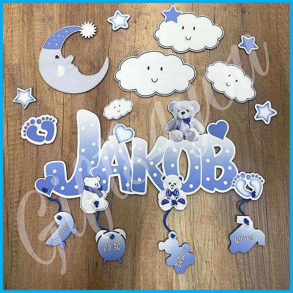 deciji-ramovi-Beli mesec i oblačići dečiji ram_45