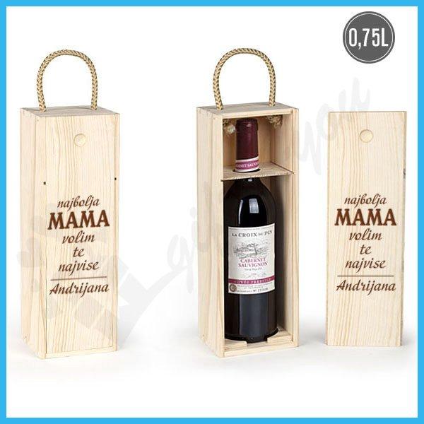 Najbolja mama poklon kutija za vino