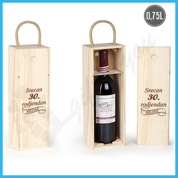 Srećan rođendan poklon kutija za vino