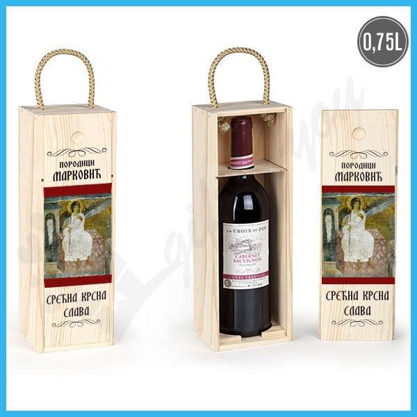kutije-za-vino-Srećna slava poklon kutija za vino_13