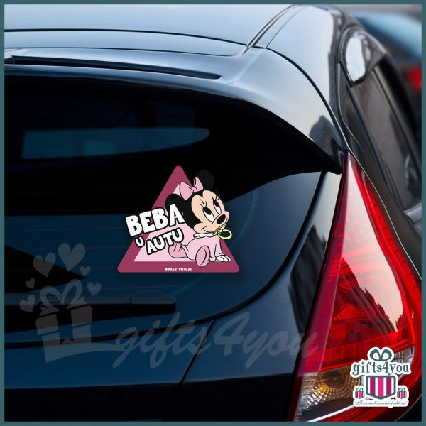 nalepnice-za-kola-Beba u autu - Minnie mouse_10