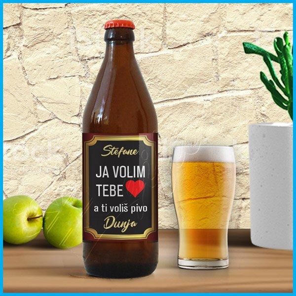 nalepnice-za-pivo-Nalpenica za pivo ja volim tebe a ti voliš pivo_1