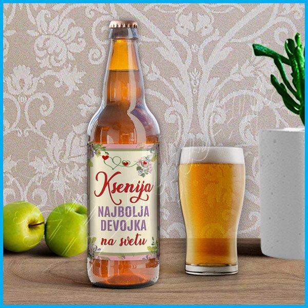 nalepnice-za-pivo-Nalepnica za pivo najbolja devojka na svetu_14