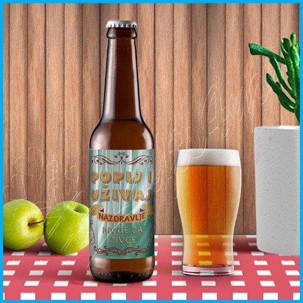nalepnice-za-pivo-Nalepnica za pivo popij i uživaj_8