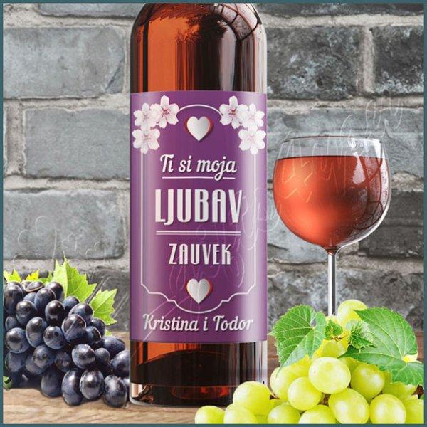 nalepnice-za-vino-Ti si moja ljubav zauvek nalepnica za vino_3