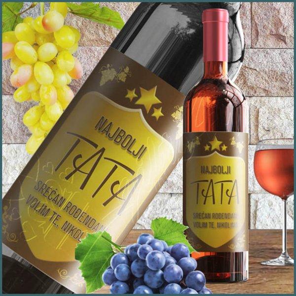 nalepnice-za-vino-Najbolji tata nalepnica za vino_5