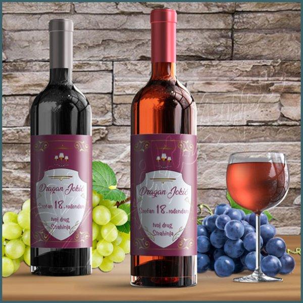 nalepnice-za-vino-Srećan rođendan nalepnica za vino_7