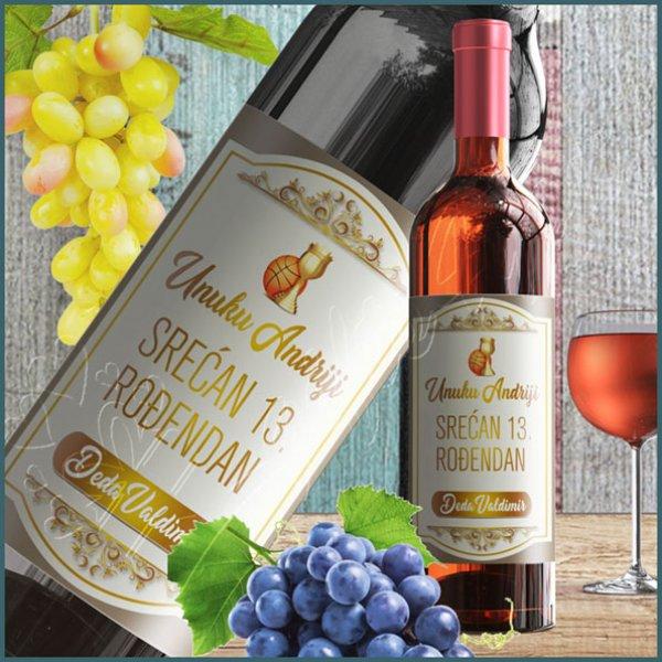 nalepnice-za-vino-Srećan rođendan nalepnica za vino_8
