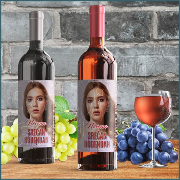 nalepnice-za-vino-Srećan rođendan nalepnica za vino_11