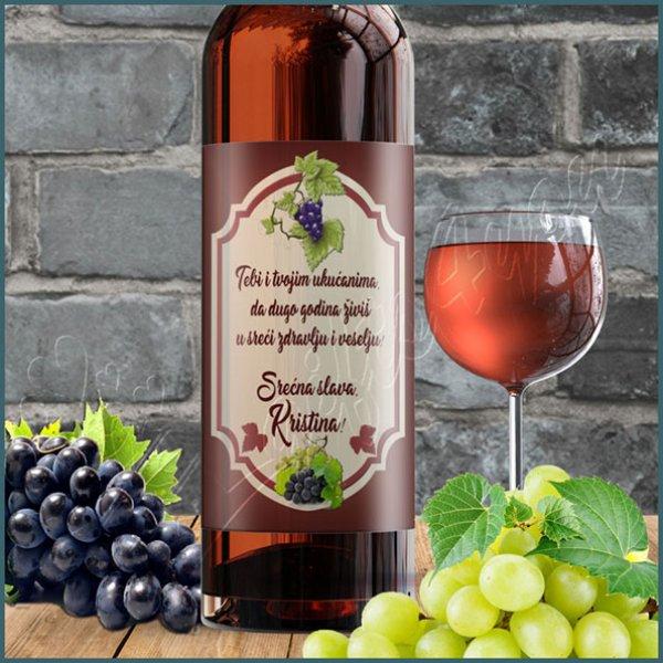 nalepnice-za-vino-Srećna slava nalepnica za vino_16