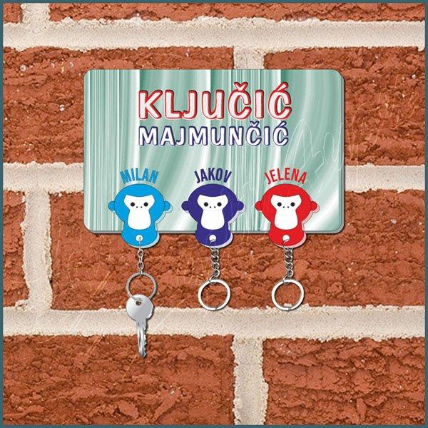 privesci-Privezak za ključeve majmunčići_23