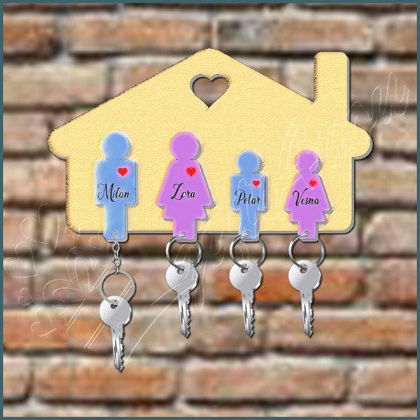 privesci-Privezak za ključeve porodični za 4 osobe_26