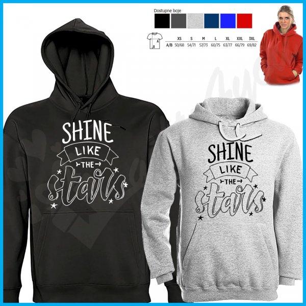 zenske-dukserice-Shine like the stars ženski duks_4