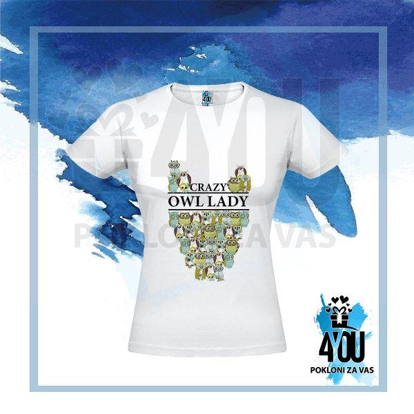 zenske-majice-Crazy owl lady majica_35