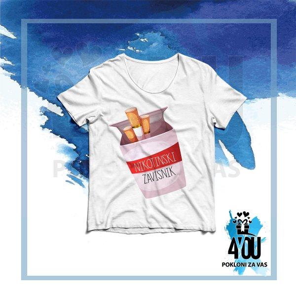 zenske-majice-Nikotinski zavisnik majica_54