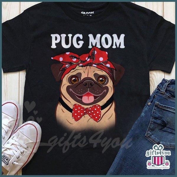 zenske-majice-Pug mom majica_25