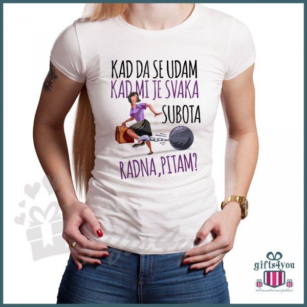 zenske-majice-Svaka subota radna majica_4