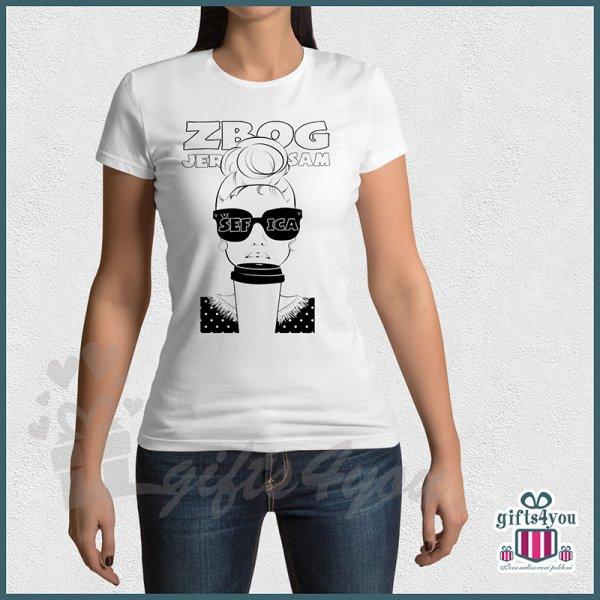 zenske-majice-Zbog jer sam šefica majica_45