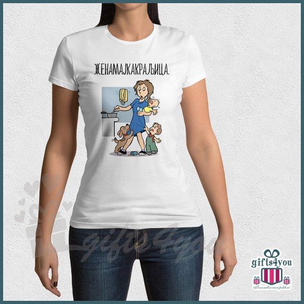 zenske-majice-Žena majka kraljica majica_67