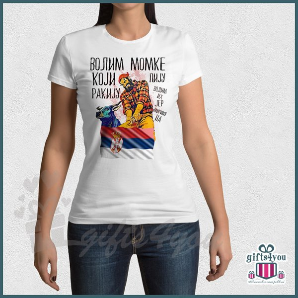 zenske-majice-Volim momke koji piju rakiju majica_77