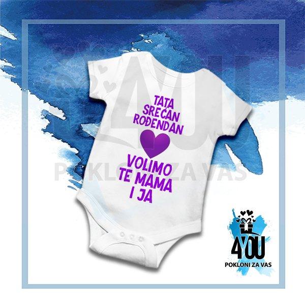 bodici-za-bebe-Tata srećan rođendan volimo te mama i ja bodić_159